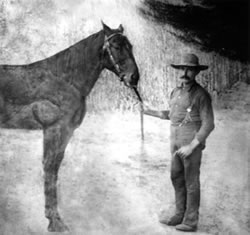 This picture, presumably of Rory MacGregor, is the only known artifact of the spirit who resides, among others, at the Newhall Ranch House.