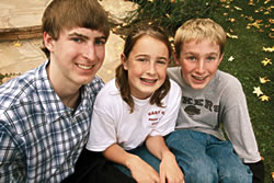 Michael, with siblings Heather & Jonathan