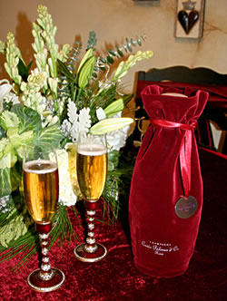 <strong>Berebi Champagne Flutes</strong><BR>La Via Bella, 661-222-7006<BR><BR><strong>Champagne</strong><BR>All Corked Up, 661-799-7979<BR><BR><strong>Linens</strong><BR>Celebrate, 661-259-8611