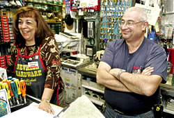 Manager Diane Vradenburg and owner Victor Feany chat with customers