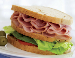Baked Ham Sandwiches with Spicy Mustard