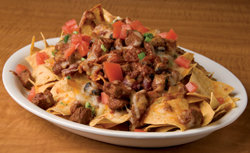 Three Bean Beef Chili Nachos