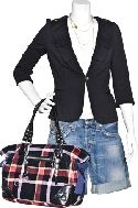 Juicy Couture blazer & bag; Velvet tee; True Religion shorts; jewelry j.serraino 255-9944