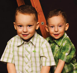 Cole & Luke Green now, at 4 years old. (photography by Mel Carll)
