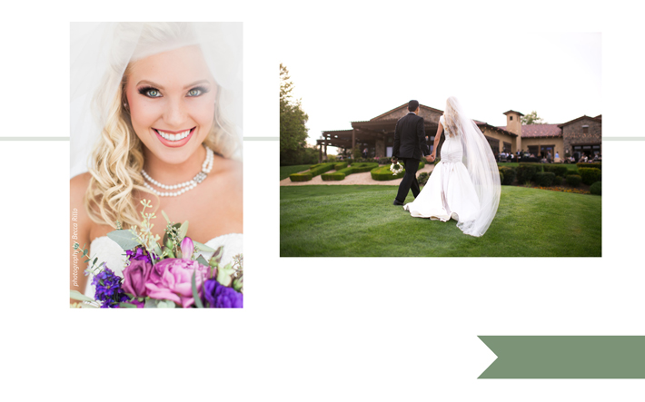 LEFT Hair & Makeup by Blo Out Lounge photo by Becca Rillo   RIGHT TPC Valencia