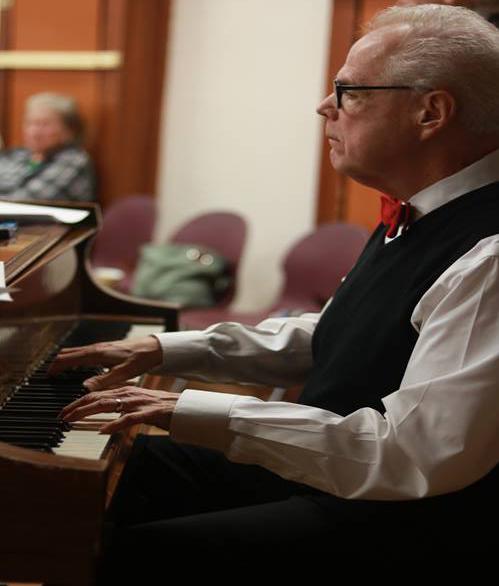 John Swinford, a member of the SCV Senior Center, entertained the night