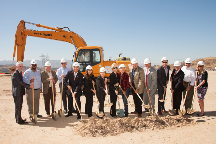 Representatives from state and local governments, community dignitaries and the Campaign team pose for the first official Groundbreaking photo of the afternoon.