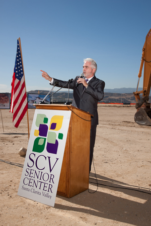 """SCV Senior Center Executive Director Kevin MacDonald addressed the crowd, saying, """"We"""