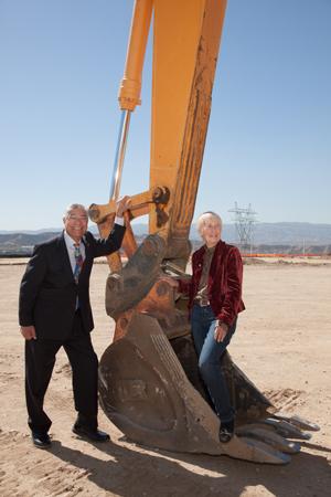 Councilmembers Bill Miranda and Laurene Weste take a closer look at the site