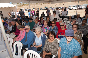 Over 150 guests, including state and local dignitaries, the Campaign team, SCV Senior Center board members and seniors from the Center attended the Groundbreaking, which was catered courtesy of Rattler