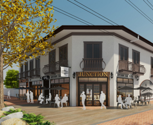 The future location of the next RE/MAX office, conveniently found on the corner of Main and Market Streets in Old Town Newhall, will be a two-story building featuring a much-anticipated restaurant on the ground floor. The culinary genius of celebrate