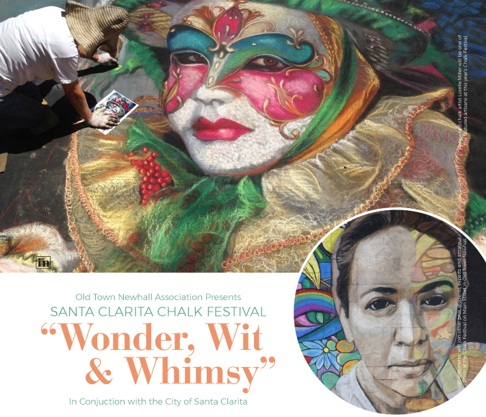 ABOVE Renowned chalk artist Lorelle Miller will be one of the featured artisans at this year