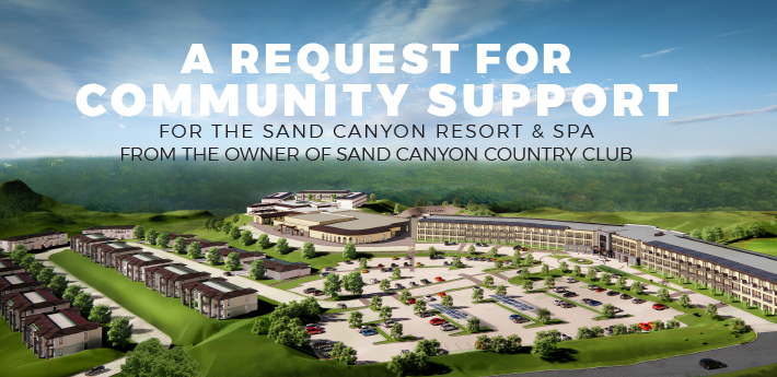 PAID FOR BY SAND CANYON COUNTRY CLUB