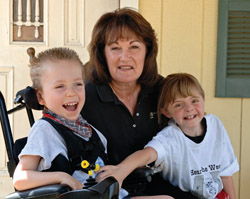 Tamara Gurney with Cameron & Tayia of Carousel Ranch